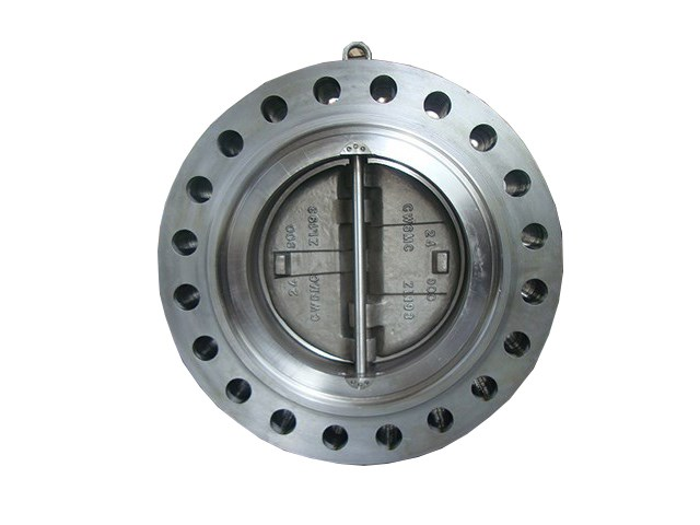 Forged wafer-lug type dual plate swing check valve