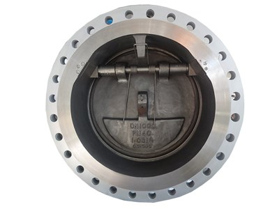 Double flanged tilting disc wafer check valve
